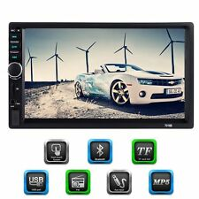 """7"""" Double 2 DIN Head Unit Car Stereo MP5 Player Touch Screen BT Radio FM/USB/AUX"""