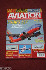 Aviation News 2013 March Wideroe,Mildenhall,Boeing 737,Spitfire,RAFG Lightning
