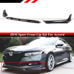 For 18-2020 Accord Modern Steel Metallic Yofer JDM Front Bumper Lip Splitter Kit