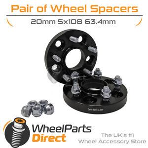 Bolt-On Wheel Spacers (2) 5x108 63.4 20mm for Jaguar XKR [XK] 06-14
