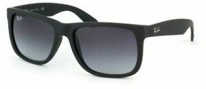 RayBan Justin Sunglasses - Black Grey Gradient - 4165 601/8G 55-16