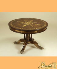 L44364: MAITLAND SMITH Highly Inlaid Round Mahogany Center Table #3030-773 ~ New