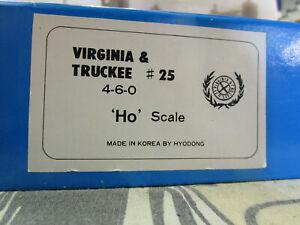 HO Scale BRASS Virginia & Truckee 4-6-0 Steam Locomotive (DMTb23)