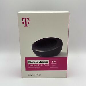 T-Mobile Wireless Charger Pad+Stand for iPhone/Android (Black) NIB A3