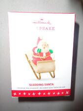 2016 - Hallmark Keepsake - Sledding Santa - New