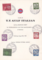 T>T> GULF ITALIAN 1961 ship launching multi stamps booklet ref r15915