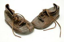 Antiques From 19 Century 2-3 Years Old Baby Leather Shoes. Interesting.