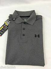 Under Armour MEN'S Athletic Golf Polo Loose Heat Gear Grey 1251484 Size M