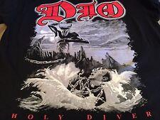 Rare Dio Holy Diver Tour Shirt Sz XL Satanic Slayer Rock Evil Sabbath Metal 666