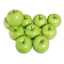 12pcs Decorative Large Artificial Green Apple Plastic Home Party T9L4