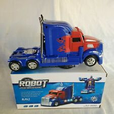 Robot Super Change Truck - Light - Music - Rotates with Bump and Go Movement