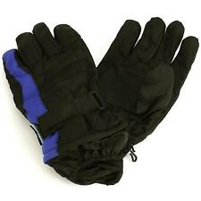 Men's Winter Thinsulate 3M Waterproof Hook&Loop Ski Wrist Cover Gloves Blue M/L