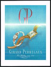 1940's Vintage 1948 Girard Perregaux Fine Watches Mid Century Watch Art Print AD