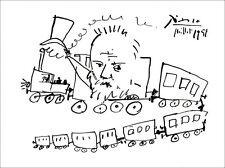 """Pablo PICASSO - Lithographie """"Victor Hugo et le voyage"""" 32x44cm"""