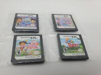 Nintendo DS LOT OF 4 Nickelodeon Dora The Explorer Games Mermaids Pet Shelter