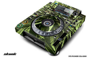 Skin Decal Sticker Wrap for Pioneer CDJ 2000 Turntable DJ Mixer Pro Audio SKUNK