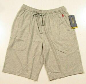Polo Ralph Lauren Men's Gray Solid Cotton Supreme Comfort Sleep Shorts