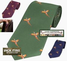 FLYING DUCK MOTIF PATTERN WILDFOWLING GAME SHOOTING HUNTING COUNTRY NECKTIE TIE