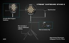 Xtreme Freestanding Dart Board Stand By Winmau Portable & Compact