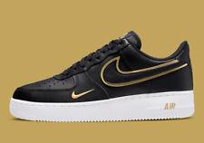 Nike Air Force 1 '07 Lv8 Shoes Black Gold White Da8481-001 Men's Multi Size New