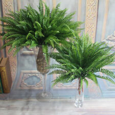 Artificial Persian Leaves 7 Branches Green Fake Plants Floral Grass Home Decor