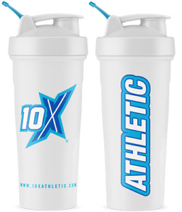 10X Athletic Shaker Cup Gym Bottle 700ml Training Drink Bottle Different Colours