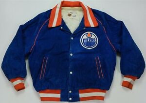 Rare VTG SHAIN Edmonton Oilers Corduroy Varsity Jacket 70s 80s Gretzky Messier
