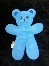 "IKEA Unicef Blue Plush Squishy Bendable Posable Bear Stuffed Animal 13"" Lovey"