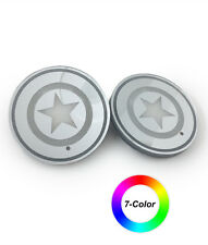 LED coaster for car or home use - Star patterns - 2pc set - XR002A