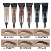 Eye Brow Tattoo Tint Dye Gel Eyebrow Cream With Brush Waterproof Long Lasting JP