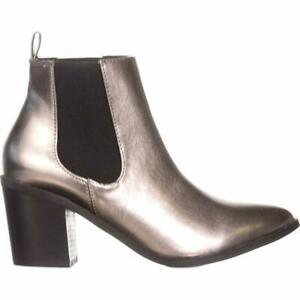 Madden Girl Womens Barbiee Pointed Toe Ankle Fashion Boots, Pewter, Size 7.0