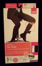 Mediven for Men Ribbed Knee High Extra Wide Calf 30-40 mmHg Closed Toe VI Black