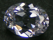 TAILLE OVALE 8x6 MM. SAPHIR BLANC CORINDON DE SYNTHESE