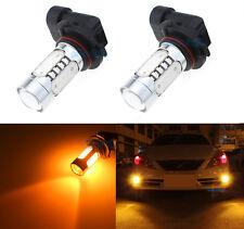 2Pcs 9005 HB3 7.5W LED Amber Car Driving Daytime Running DRL Fog Light Bulbs KL