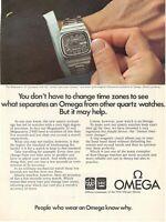 1975 Original Advertising' American Vintage Omega Watch Megaquartz 32