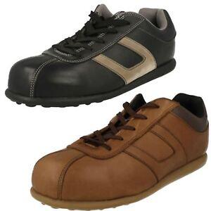 Unisexe Femmes Ou Hommes Noir/Marron Magnum Lacet Bout en Acier Sécurité Shoes :
