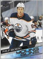 2020-21 Upper Deck Young Guns Philip Broberg Rookie # 204 NM/MT RC