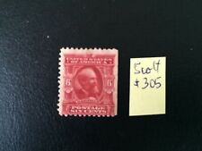 US stamps 1902-03 Garfield 6c stamp Perf.12 Scott # 305 Mint NG