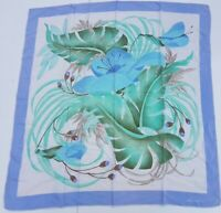 foulard brunella pura seta 100% silk original made italy carré scarf