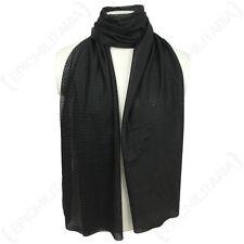 Red De Malla Negra Bufanda-pañuelo para el cuello Antil Ejército Militar Soldado cañamazo Airsoft