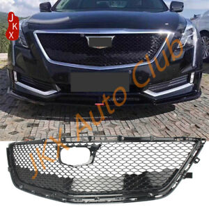 Glassy Black Front Bumper Upper Mesh Grille Facelift o For Cadillac CT6 2016-18