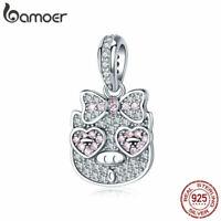 BAMOER S925 Sterling silver Charms Sweet piggy & CZ Fit Women Bracelet Jewelry