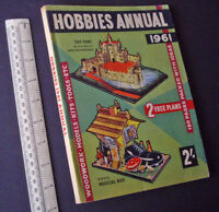 Vintage Hobbies Annual-Handbook-Catalogue 1961. Fretworking, Retro-Modelling etc