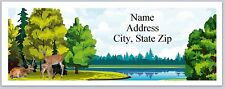 Personalized Address Labels Pretty Scenery Lake Deer Buy 3 get 1 free (P 534)
