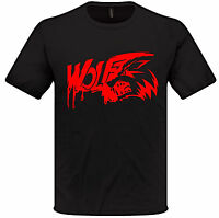 Wolf Blood T Shirt Loup-Garou Horreur Hommes Femmes Noir Rouge