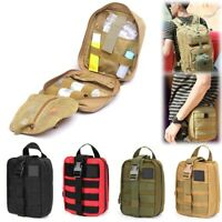 First Aid Pouch, Rip-Away EMT Tactical MOLLE Medical First Aid IFAK Utility Bag
