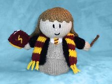 KNITTING PATTERN - Hermione inspired choc orange cover / 15 cms Harry Potter toy
