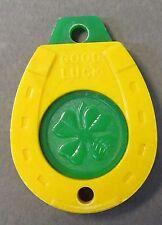 vintage HOUSTON'S INC. BAR SUPPLIES Portland Oregon GOOD LUCK keychain key *