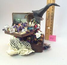 Dollhouse miniature 1/12th scale witches trunk  by Jan Smith #10