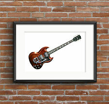Mick Taylor's Gibson SG guitar POSTER PRINT A1 size